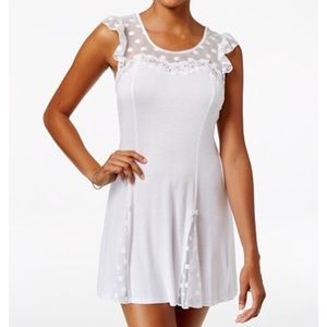 Betsey Johnson WHITE Flutter Lace Nightie